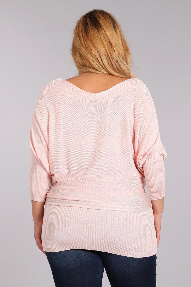 Plus Size Knit Dolman Cozy Sexy Plus Size Top