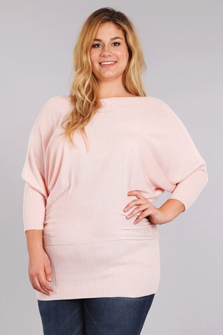 Knit Dolman Cozy Sexy Plus Size Top