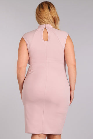 Sexy Choker Strappy Neckline Plus Size Dress