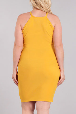 Plus Size Side Cutouts Racerback Dress
