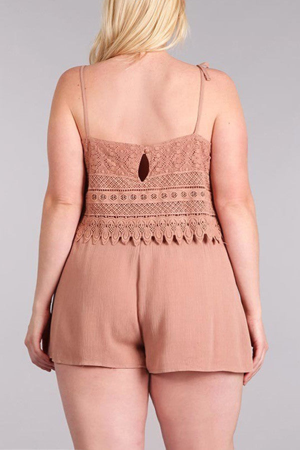 Plus Size Flowy Sexy Layered Detailed Romper [SALE]