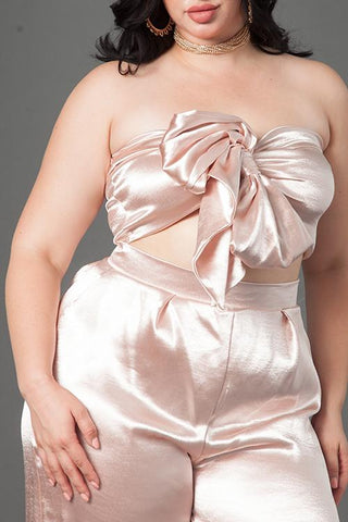Plus Size Silk Matching Set