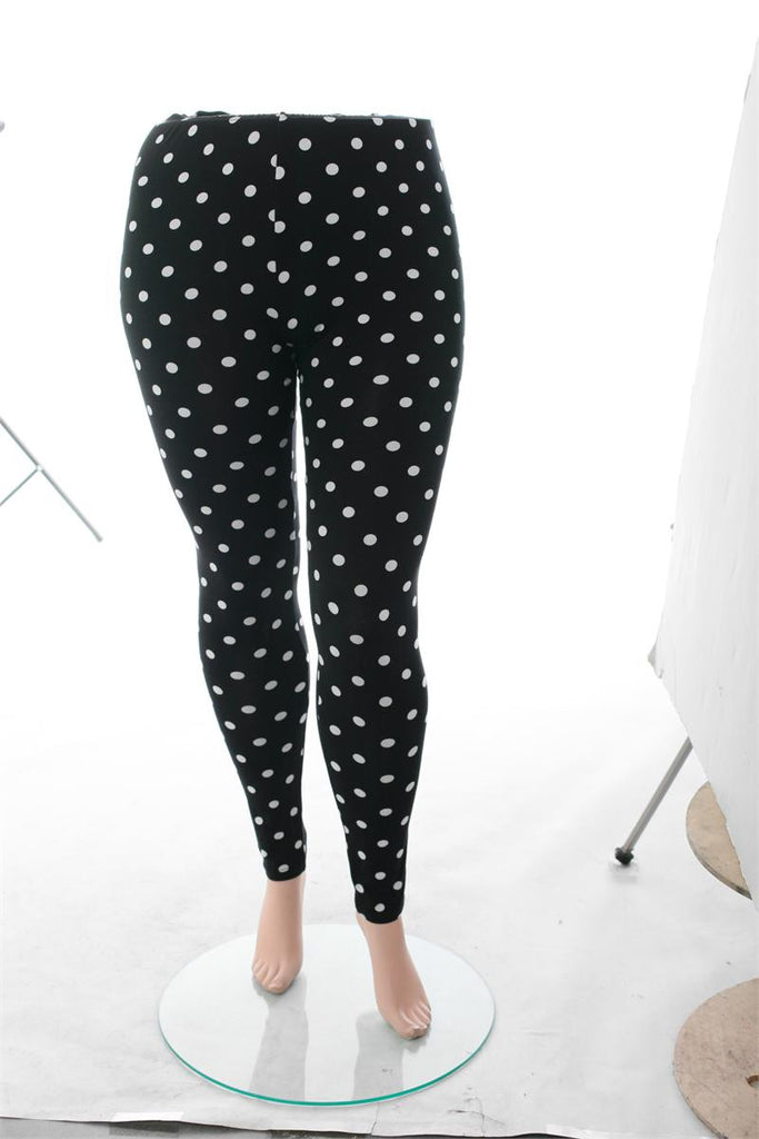 Plus Size Sexy Polka Dot Leggings - nonactive