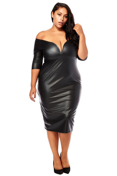 Black leather dress with full length front zipper for a night out or romantic evening. This beautifully tailored, comfortable, sexy and seductive black dress is made of premium grade, soft touch black lambskin leather.
