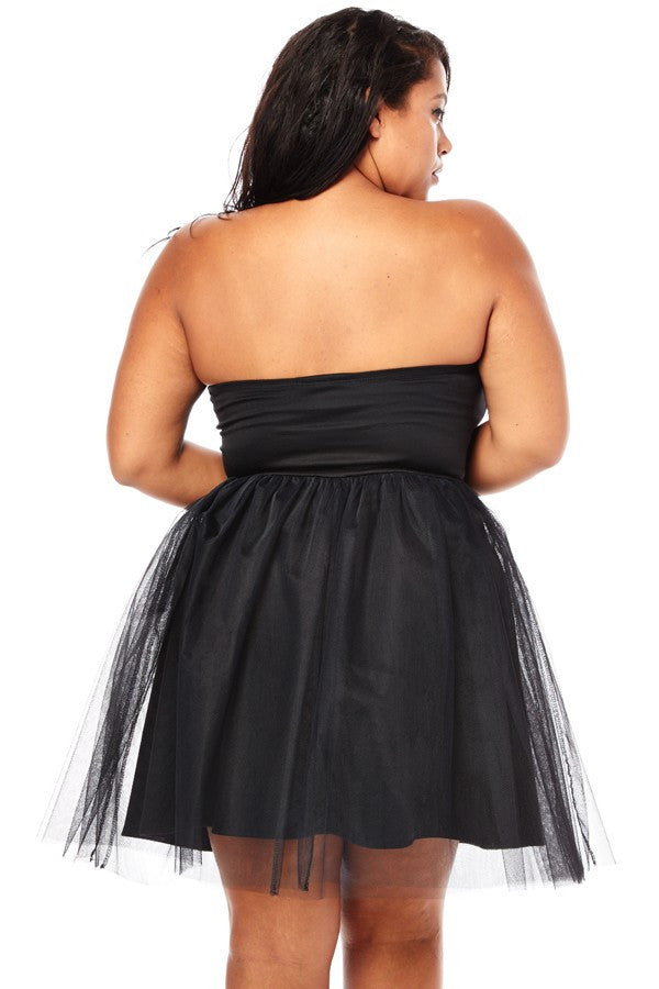 Plus Size Sweetheart Tulle Dress