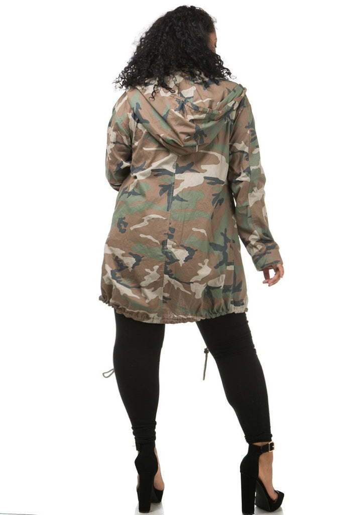 Miss Commander Plus Size Camo Jacket