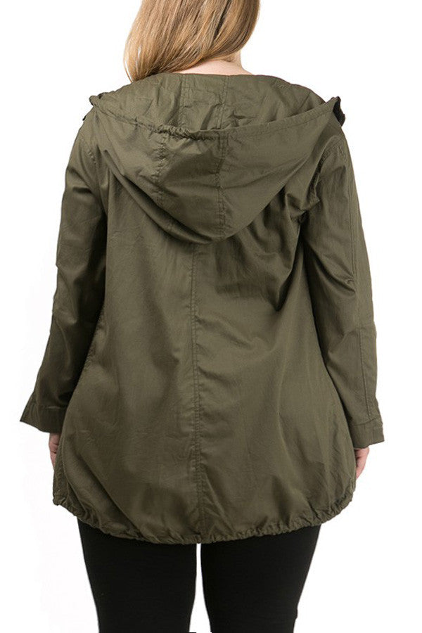 Out And About Plus Size Hoodie Jacket