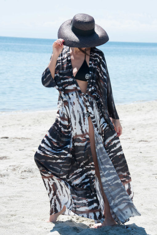 Plus Size Flowy Chiffon Long Beach Dress