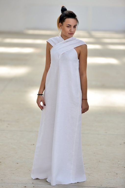 Plus Size Long Linen Dress