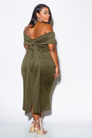 2b7cf1643d ... Plus Size Sexy Off Shoulder Fold Over Dress ...