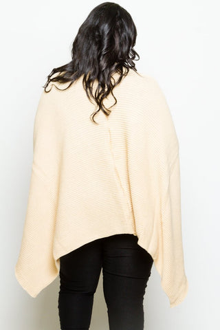 Plus Size Poncho Cardigan