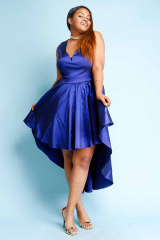 Plus Size Silky Cute Flared Dress