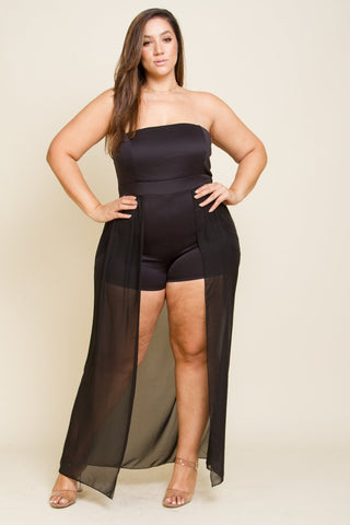 Plus Size Sexy Tail Romper