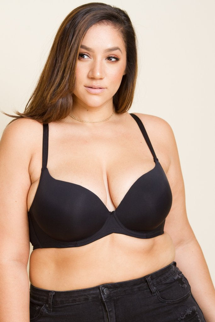 Plus Size Ultimate Push Up Bra Cup DD [Final Sale Item]