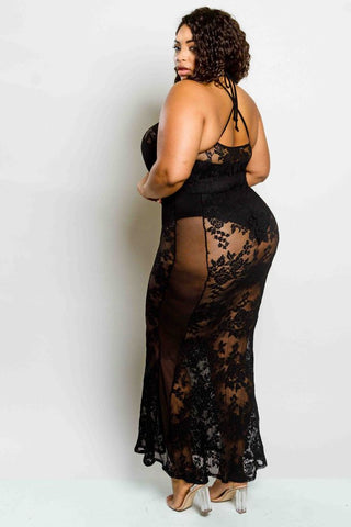 Plus Size Lacey Maxi Dress