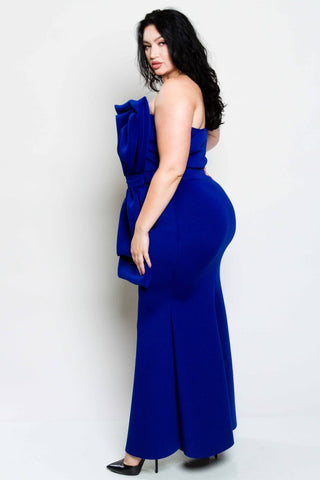 Plus Size Mermaid Bow Dress