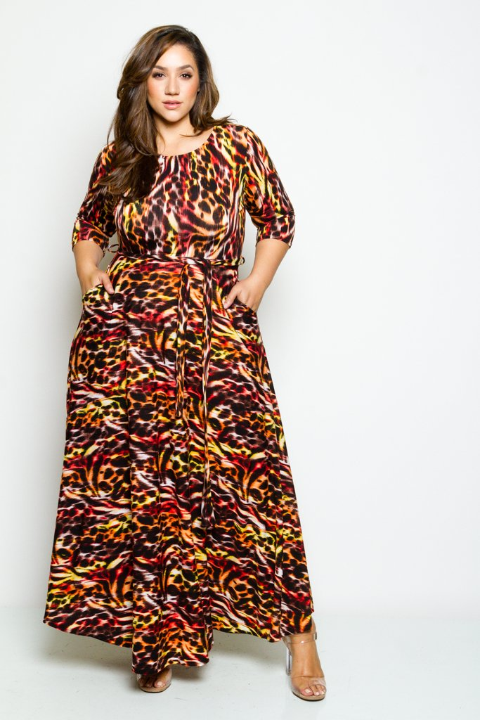 655eb5d9731 Plus Size 3 4 Length Sleeve Maxi Dress – Plussizefix