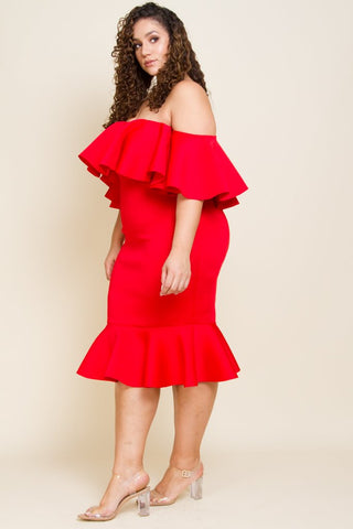 Plus size red cocktail dresses