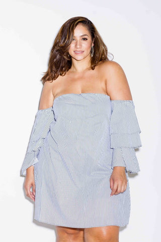 Plus Size Tiered Sleeve Dress