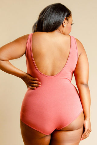 Plus Size Solid Summer Bodysuit