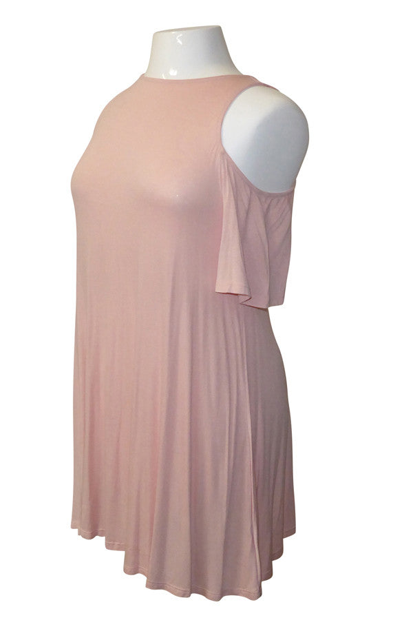Plus Size Sweetly Bare Shoulders Shift Dress [SALE]