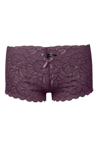 Plus Size Floral Lace Boyshort [Final Sale Item]