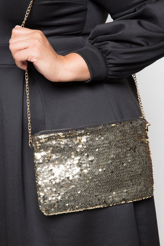 Sparkling Sequin Queen Clutch Purse