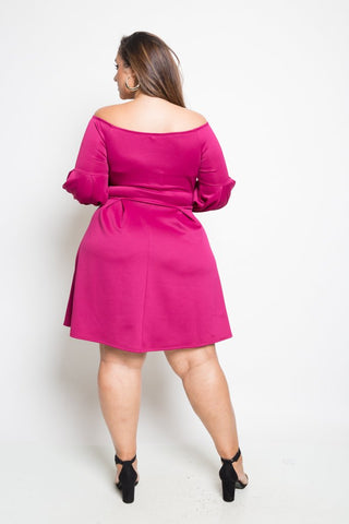 Plus Size Long Sleeve Skater Dress Item
