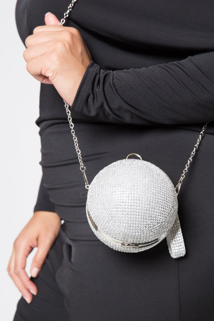 Crystal Rhinestone Ball Clutch