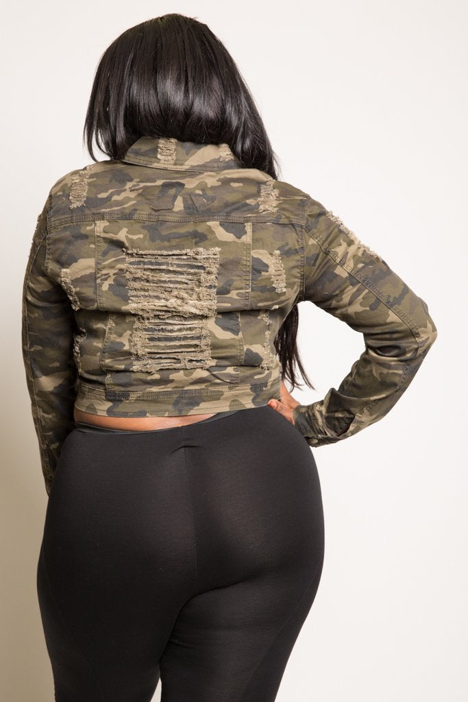 000a700342 Plus Size Sexy Cropped Trendy Camo Denim Jacket – Plussizefix