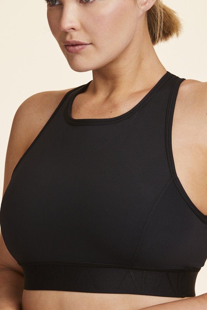 Plus Size Paired with Captain Ankle Tight in Black Bra