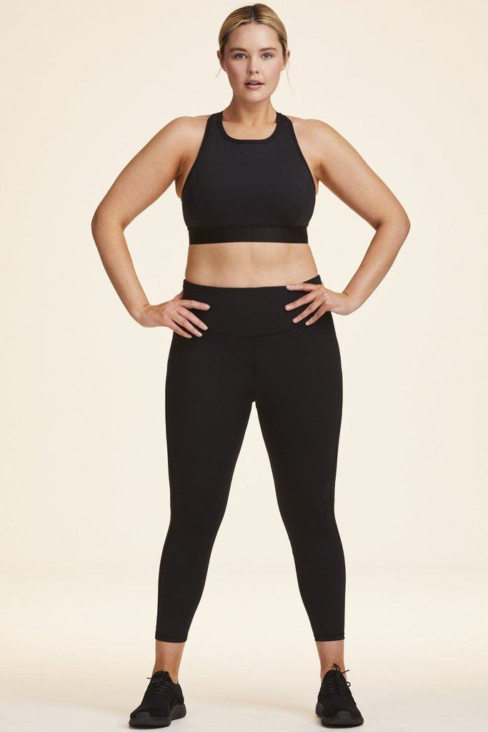 Plus Size Heroine Tight styled with Barre Bra and Frame Bra