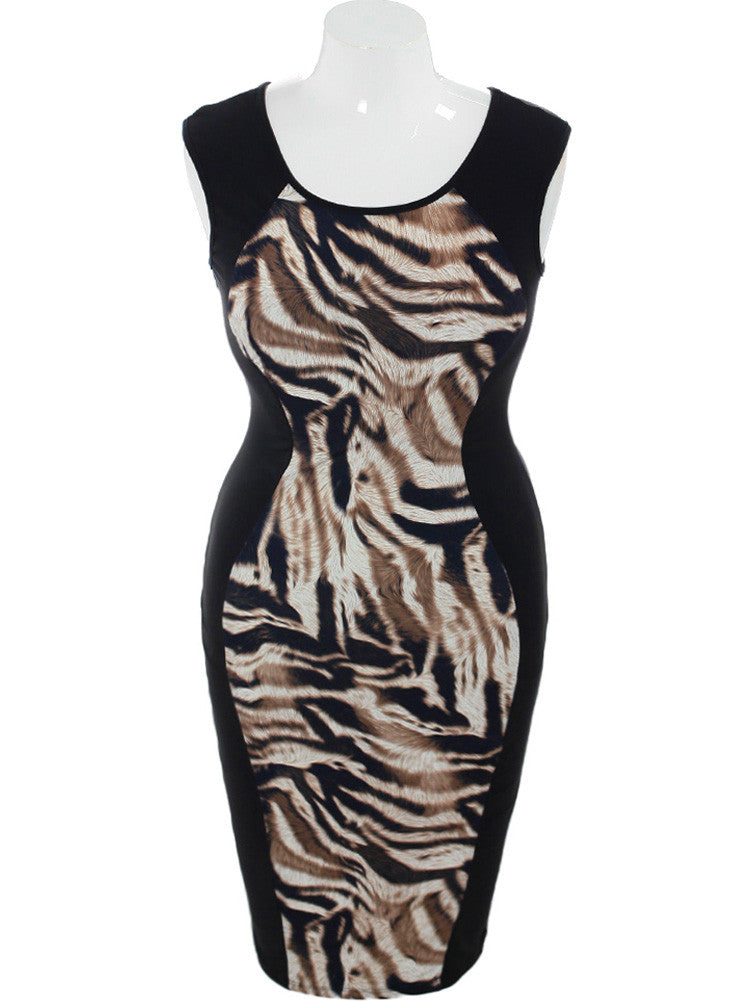 Plus Size Nine Lives Midi Dress
