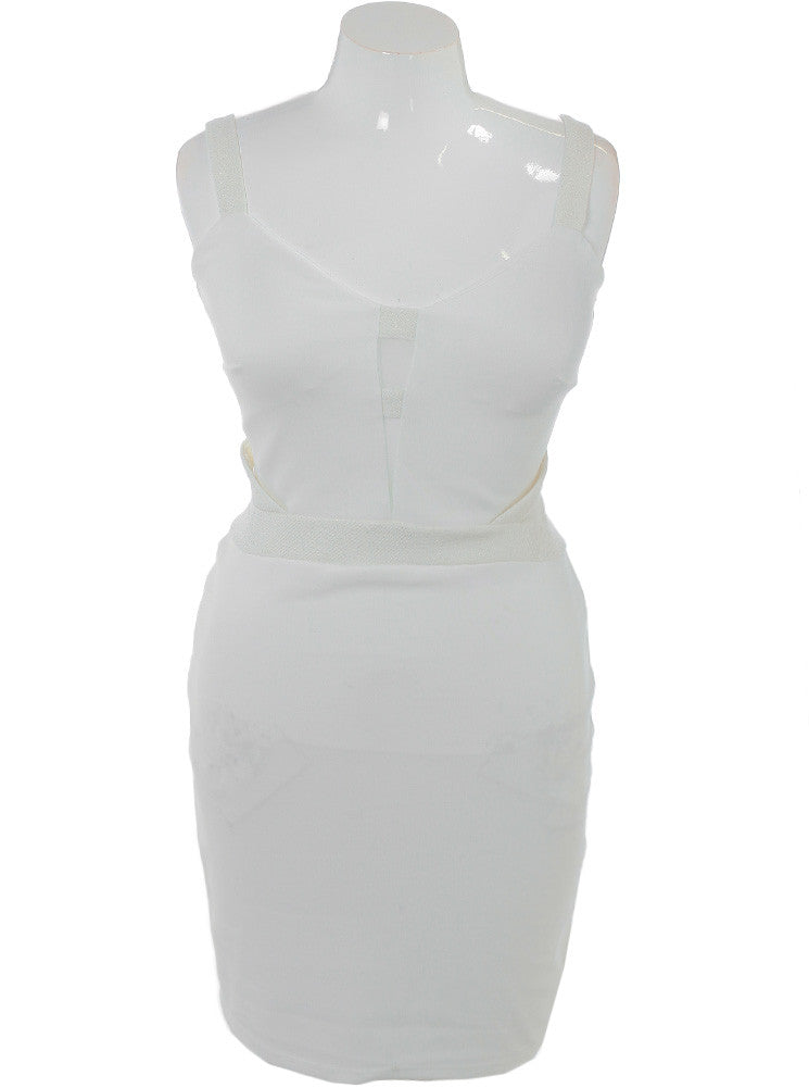Plus Size Sweetheart Shimmering White Dress