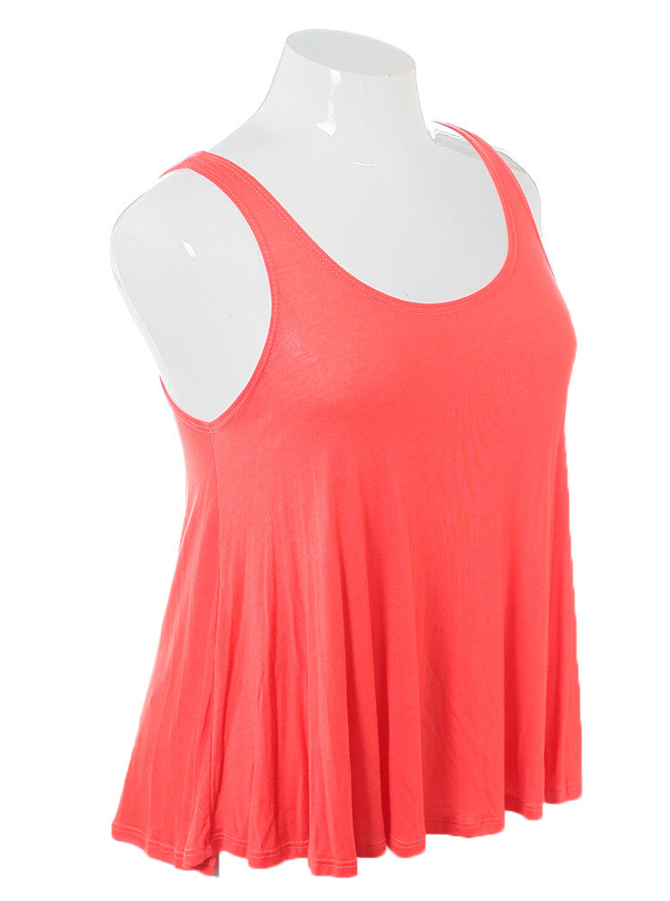 Plus Size Sexy Classic Coral Tank