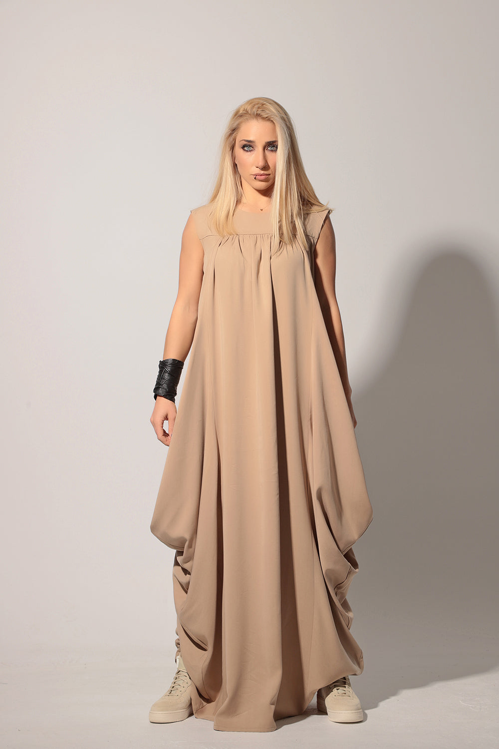 Plus Size Sleeveless Floor Length Maxi Dress