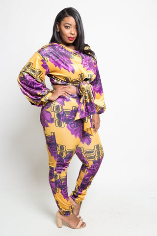 Plus Size Hot Stylish Top and Pants Set
