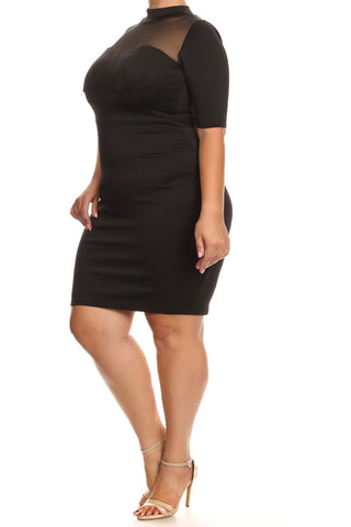 Hot Mesh Plus Size Bodycon Dress