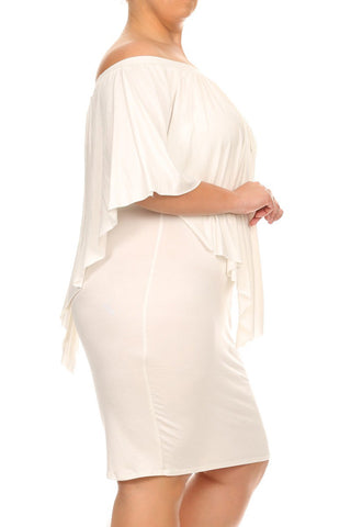 Sexy Off Shoulder Layered Plus Size Dress