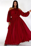Plus Size Queen Flow Off Shoulder Maxi Dress