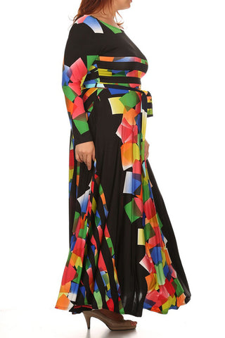 Venezia Design Colorful Weekend Plus Size Dress