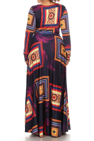 Gorgeous Art Piece Plus Size Maxi Dress