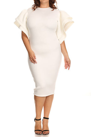 Plus Size Show Stopper TECHNO Bodycon Dress