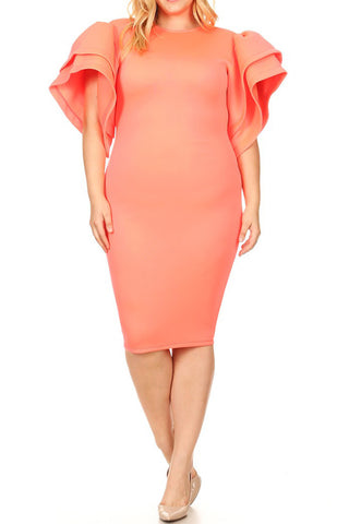 Sexy Plus Size Dresses Tagged Color Peach Neon Plussizefix