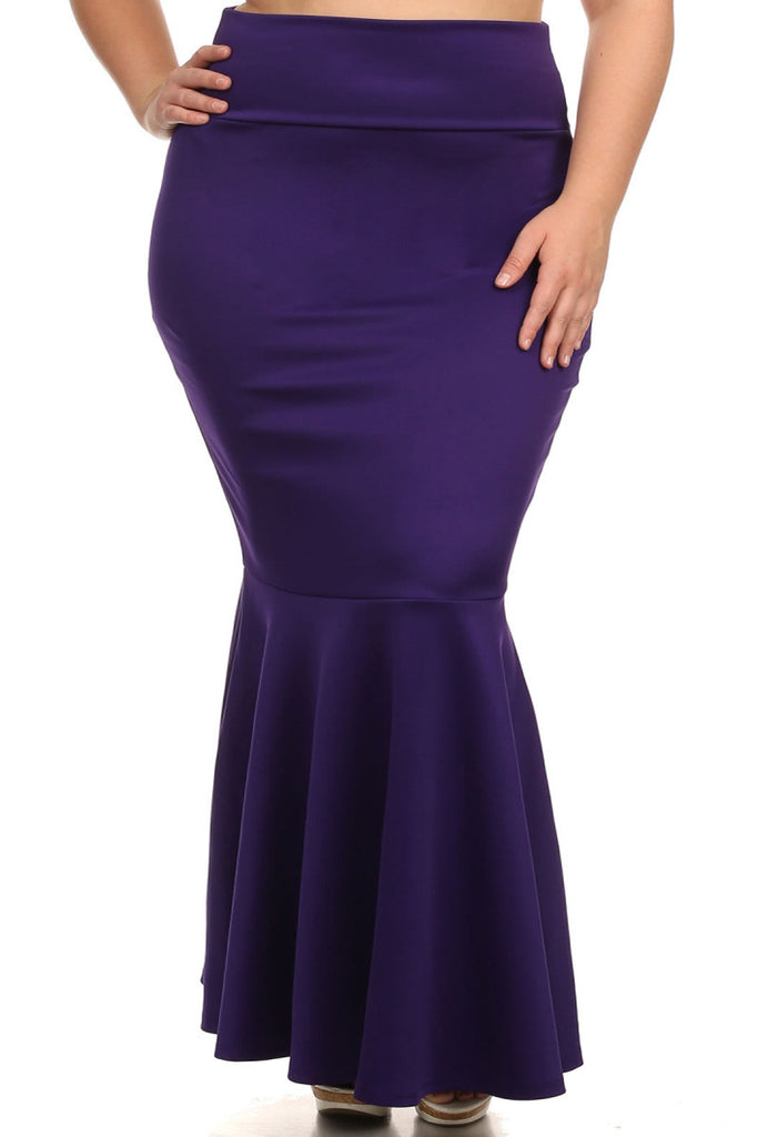 Curvy Mermaid Silhouette Plus SizeMaxi Skirt