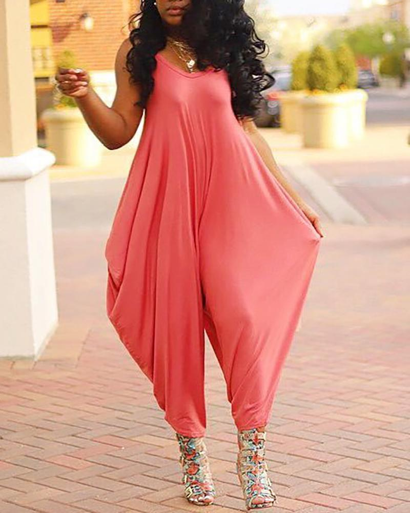 Plus Size Summer Sling Harem jumpsuit