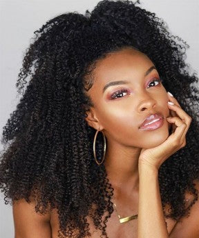 13x6 Afro kinky Curly Wigs With Baby Hair 150% High