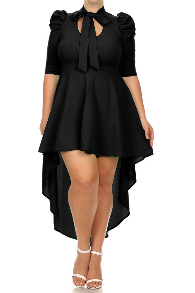 Dipped hem dress plus size