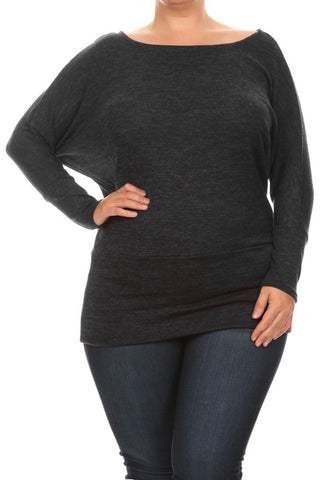 Modish Cozy Up Plus Size Knit Top