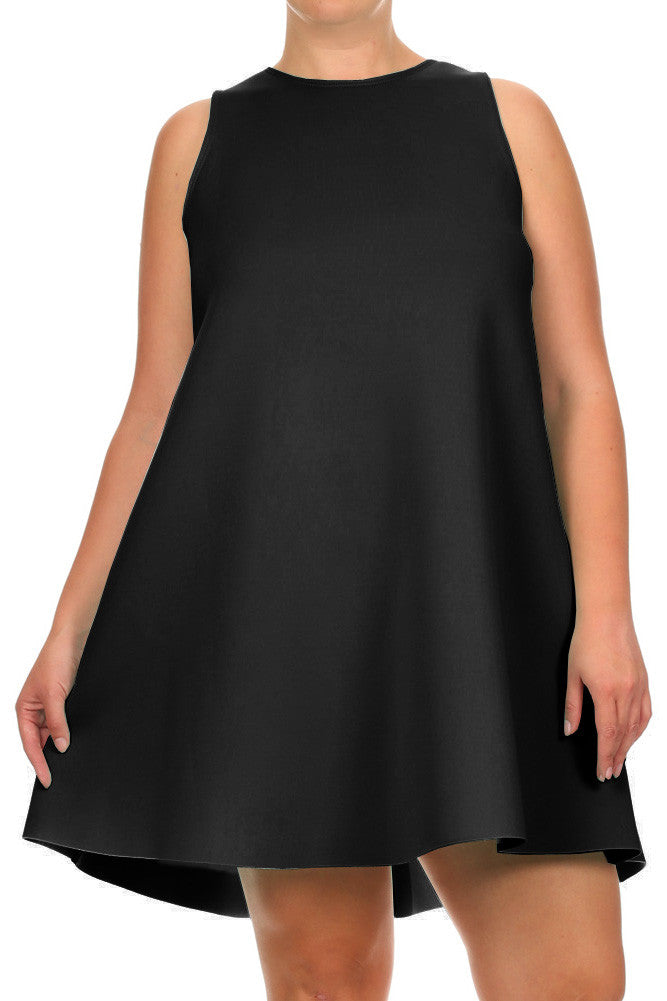 Plus Size Thick Comfortable Scuba Frock Dress